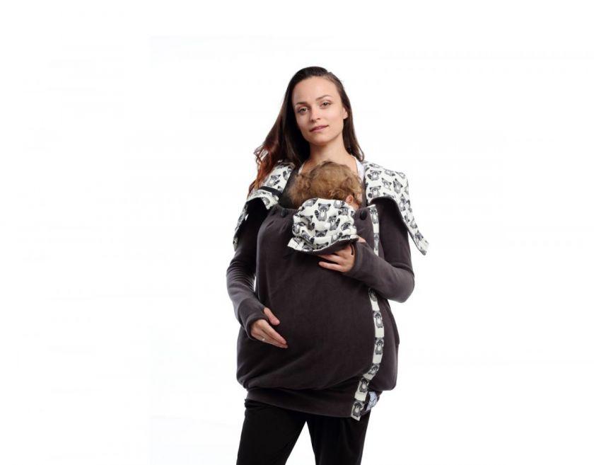 grey babywearing sweatshirt