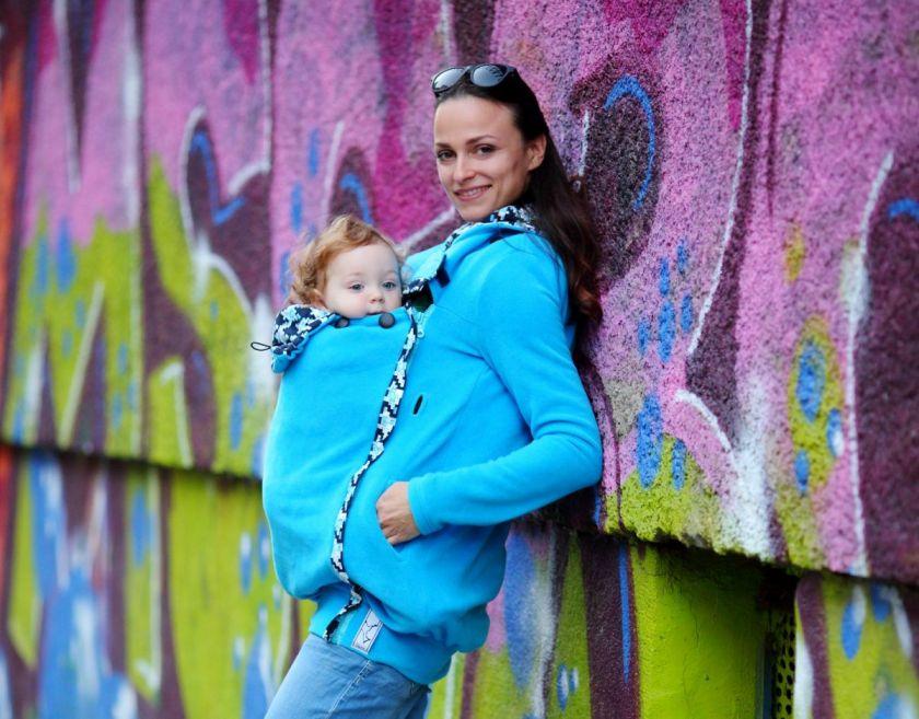 дрехи за бебеносение синьо