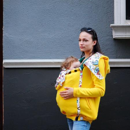 дрехи за бебеносене жълто